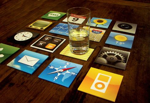 iPhone Coaster Set