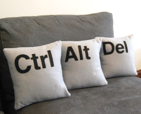 Ctrl - Alt - Del Three Pillow Set