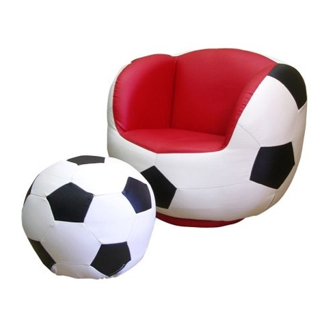 巨大な野球ボール? いいえ、椅子です。【all Star Swivel Chair And Ottoman Set