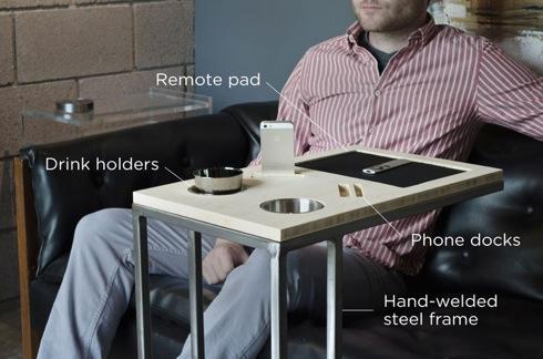 iSkelterの新作はスマホスタンド付きサイドテーブル!【CADDY】