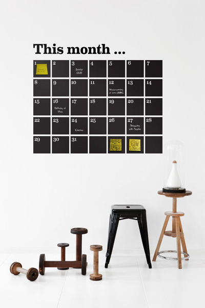 Calendarwallsticker