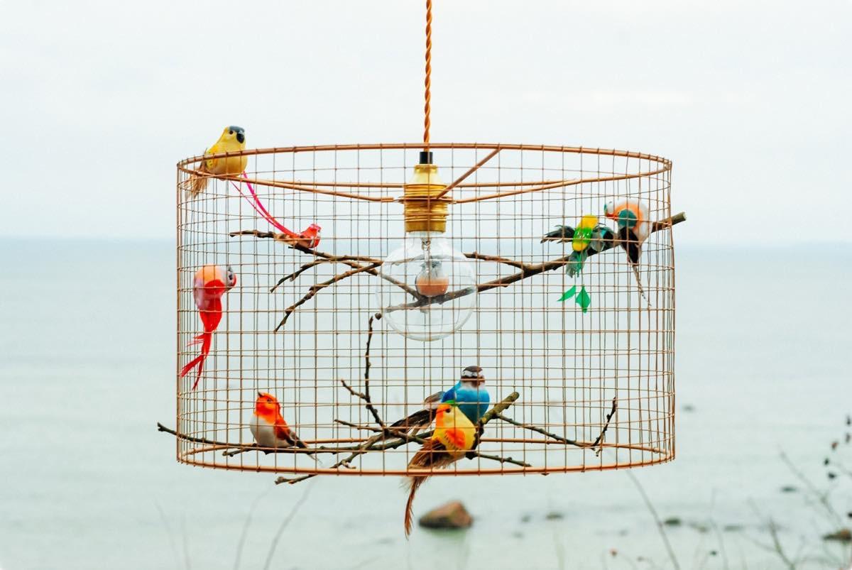 Copper birdcage pendant light chandelier copper birdcage pendant light chandelier mozeypictures Image collections