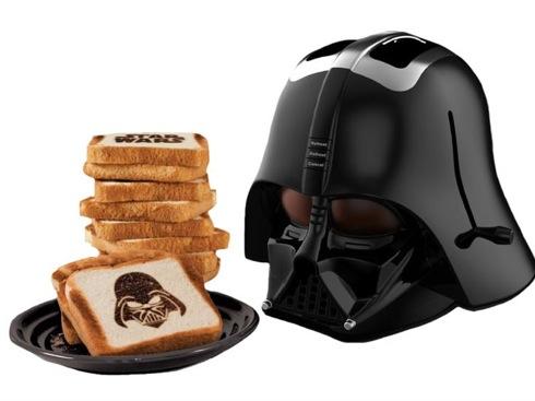 ダースベイダーがプリントできるダースベイダーのトースター【Darth Vader Toaster】