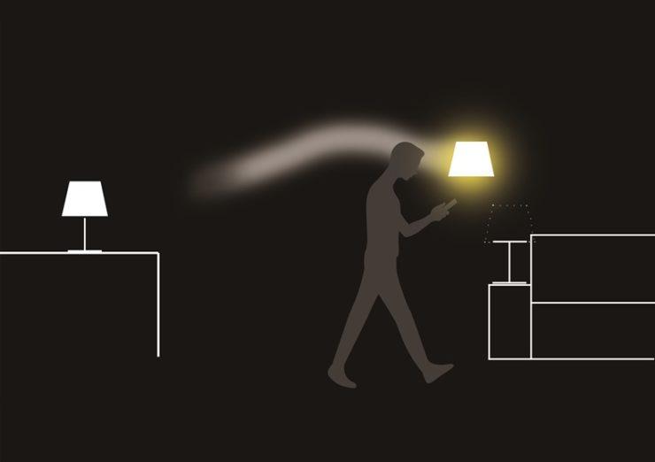 あなたに合わせて照明が移動します。