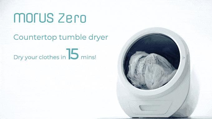 15分であっという間に衣類を乾燥。