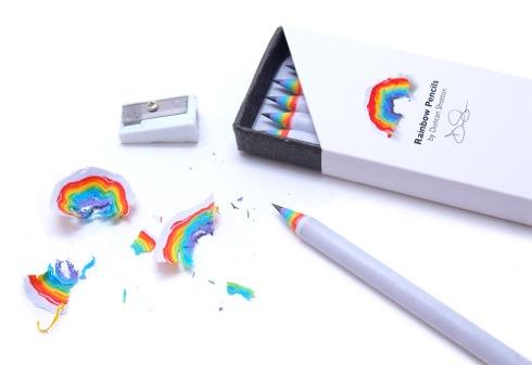 削るレインボー。削りカスが虹になる鉛筆【Rainbow Pencils】
