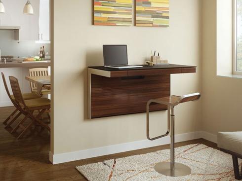パソコン作業に最適。省スペースなウォールマウントデスク【sequel Wall Desk】|インテリアハック