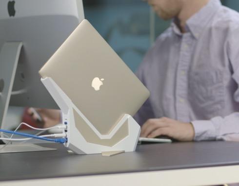 7種の拡張ポートを搭載したスマートなMacbookドック【SparrowDock】