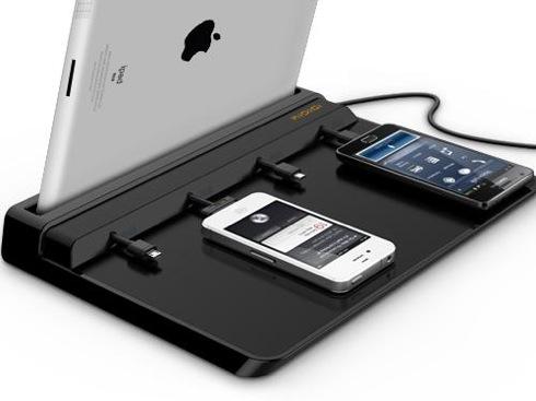 スマホとタブレットをまとめて4台充電できるドック【super Charger Dock】|インテリアハック