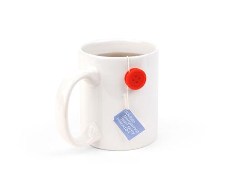 マグカップにワンポイントを。ティーバッグを留めるボタン【Tea Buttons】