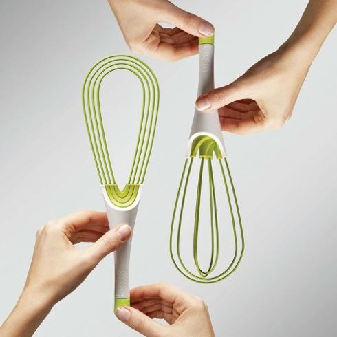 収納しやすい「折りたためる」泡立て器【Twist Whisk】